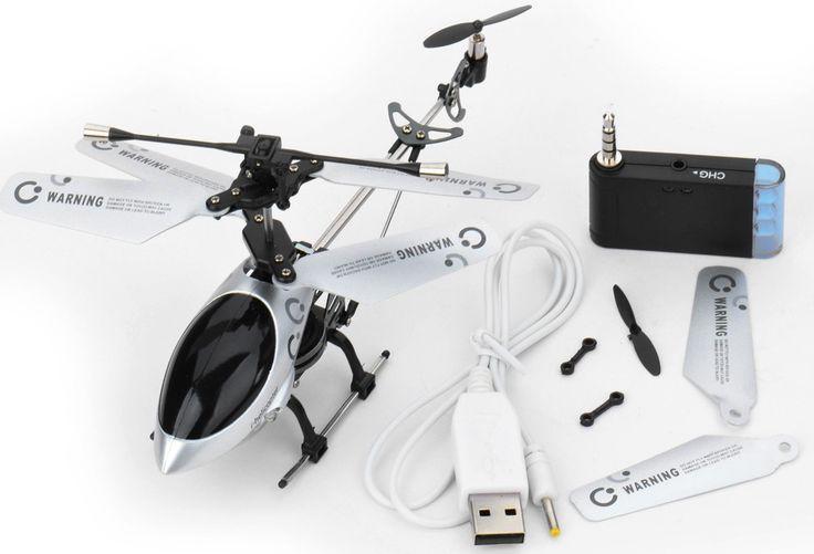 RC Elicottero con Luce LED Controllato da Apple IOS Iphone IPad Ipod 3.0 Canali I-Helicopter - Cover & Accessori per Apple - Gadget & Idee Regalo | I Shake | Il Risparmio in un Click.