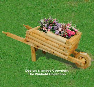 Landscape Timber Wheelbarrow Planter Pattern