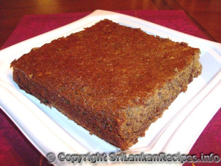 Sri Lankan Date Cake Recipe