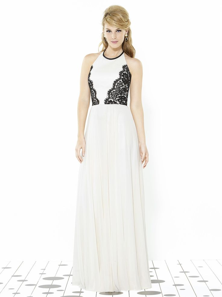 danica gown #ivory #black #lace