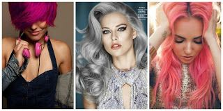 Fucsia, Gray and Pink #hairstyle #women #fashion #moda #mujeres
