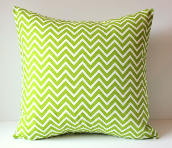 Decorative Pillow Cover Green White Cosmo Skinny Chevron Throw Pillows Cushions Home Decor Nursery College Cushion Monogram