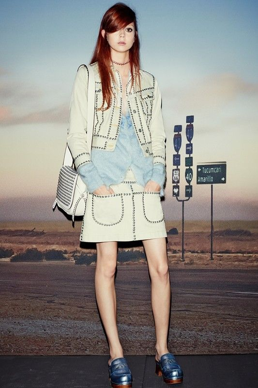 Natalie Westling in cowgirl studs at Coach SS15 NYFW. More images here: http://www.dazeddigital.com/fashion/article/21562/1/coach-ss15