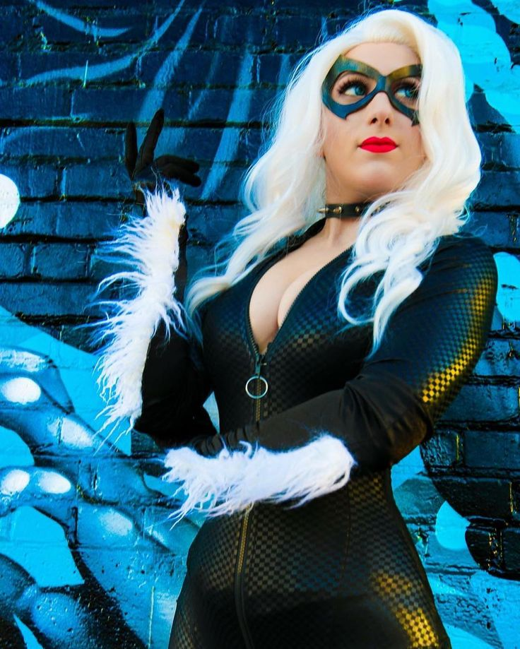 Black cat cosplay porn