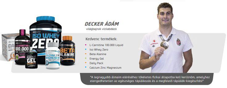Decker Ádám vízilabdázó is Biotech USA termékeket használ.