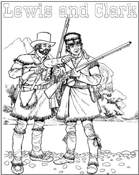 lewis and clark lewis and clarkteaching historyfree coloring pagesamerican