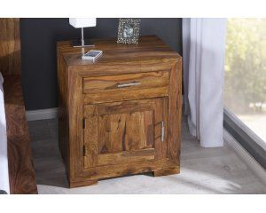 Drewniany stolik nocny - 1
