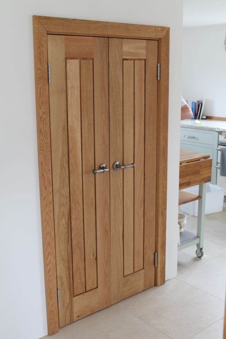 Solid oak mexicano doors converted into kitchen cupboard for Solid oak doors