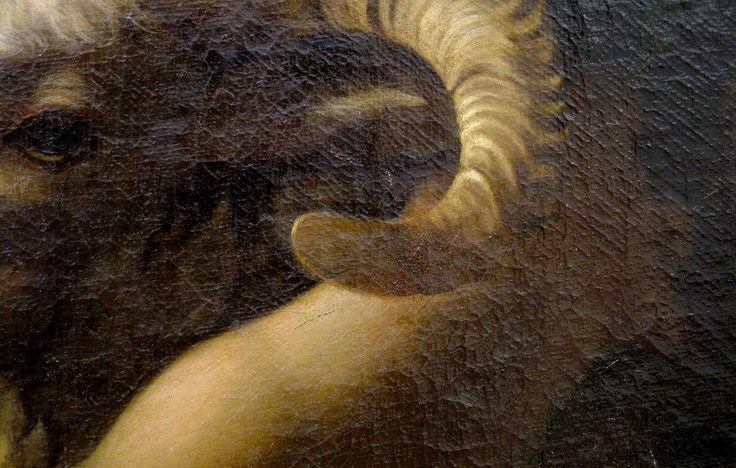 Dettaglio San Giovannino Capitolino del Caravaggio