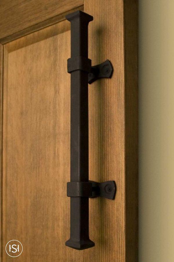 Heavy Duty Square Iron Pipe Pull. Door Pull HandlesDoor PullsDoor HandleRustic  HardwareCabinet ...