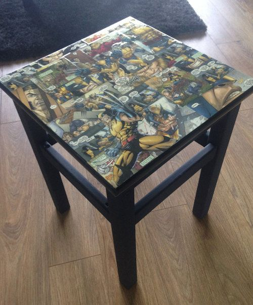 Wolverine Xmen Comic book bedside table by CapassoDesigns on Etsy, £45.00