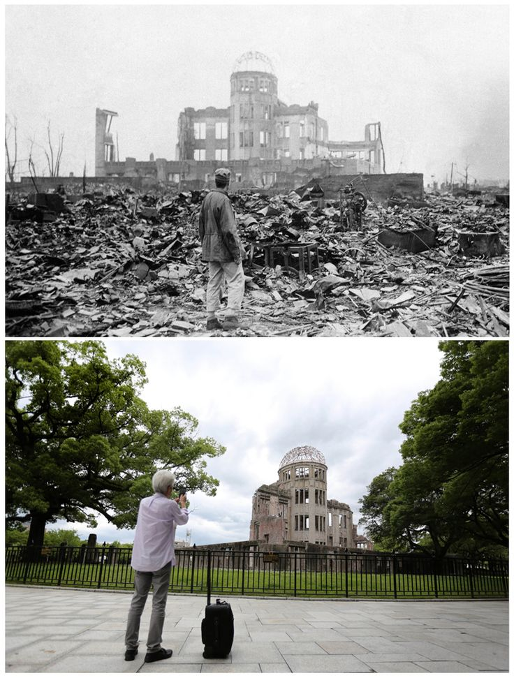 70 Years After the Atomic Bombs: Pictures of Hiroshima and Nagasaki Then and Now