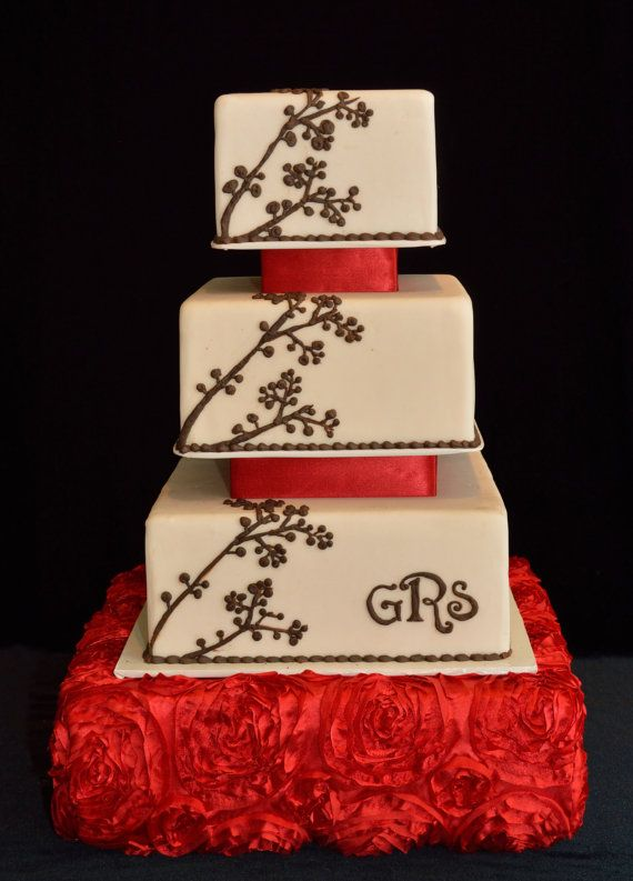 Wedding Cake Stand Large Red on Etsy, $75.95