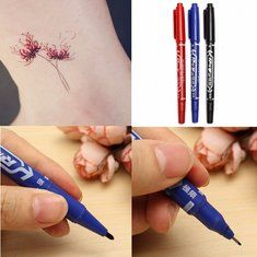 #Banggood 3-х цветов переноса татуировки пера Двухсторонние кожи маркер пирсинг маркировки ручки (1061702) #SuperDeals