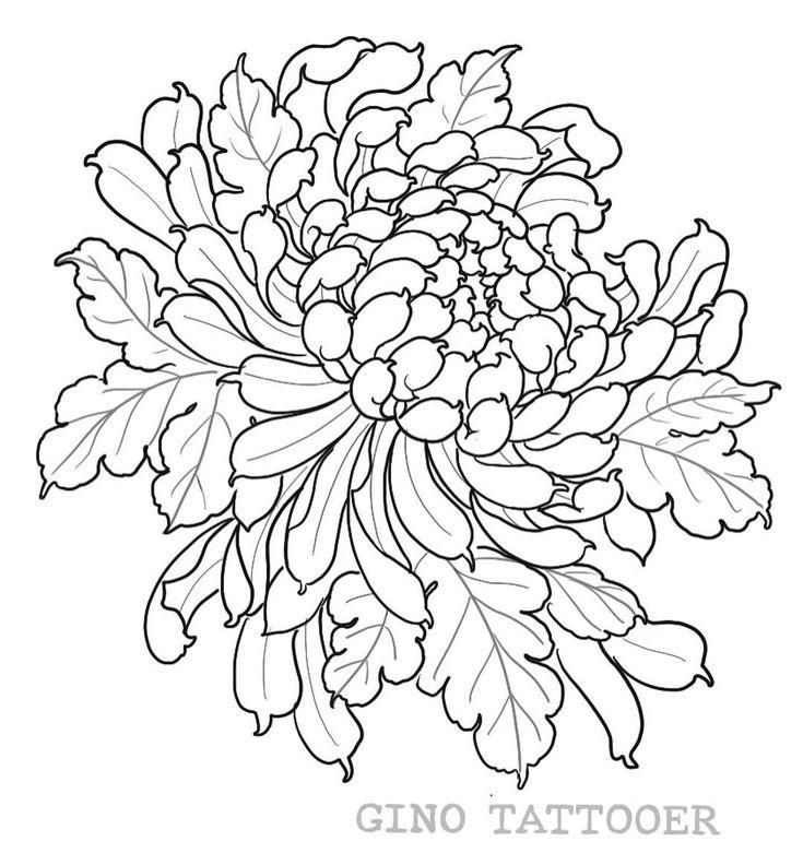 контурные картинки хризантемы позволяет разделить