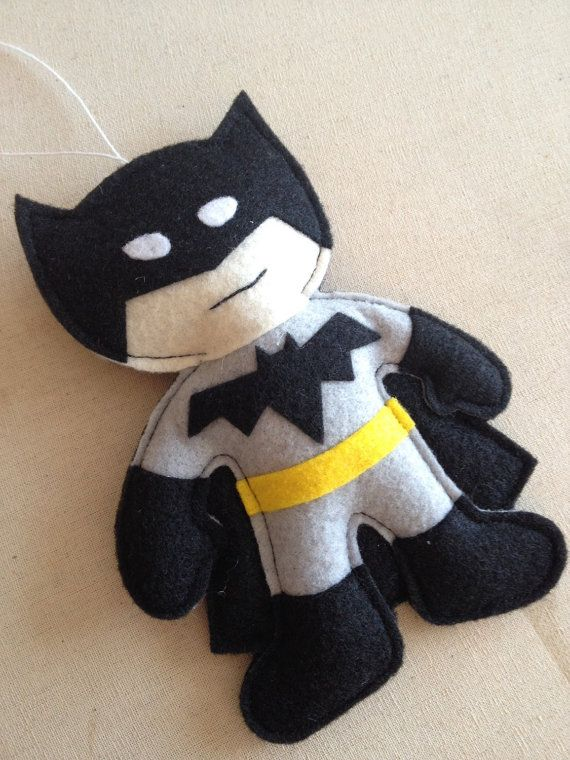 Batman Felt Ornament by HebCrafts on Etsy
