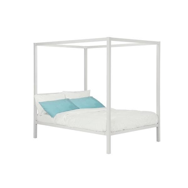 DHP Modern White Metal Full Canopy Bed