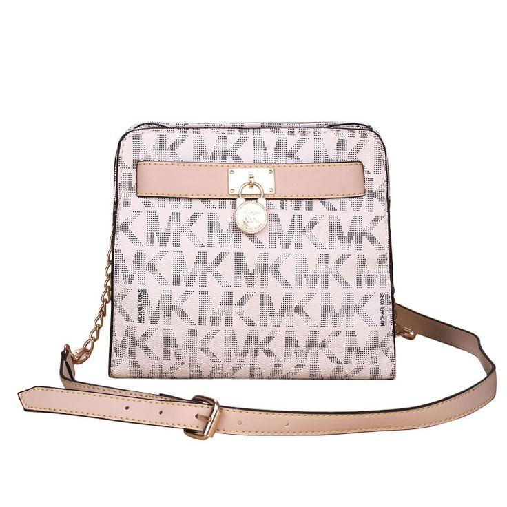 Michael Kors Outlet Hamilton Lock Medium Vanilla Crossbody Bags -save up  off michael kors store online !