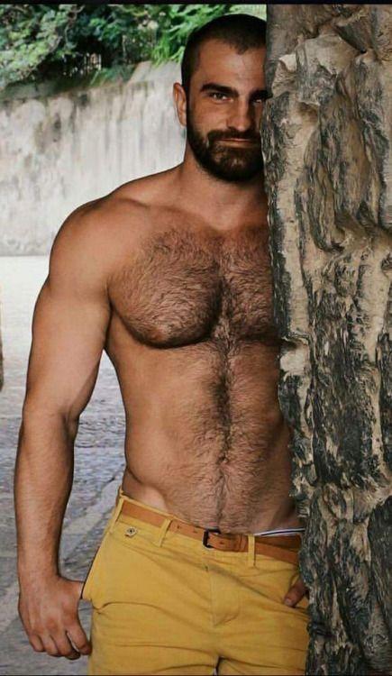 Hairy chest hot men