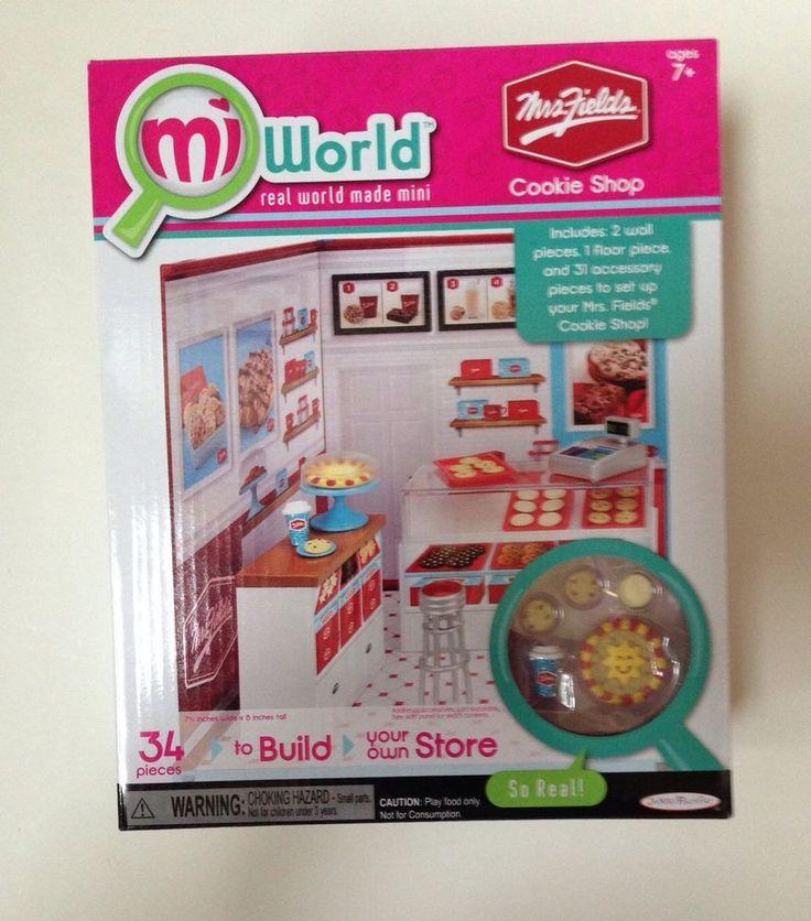 MiWorld Mrs Fields Cookie Shop  Playset Mini Miniature Mi World  New #JakksPacific