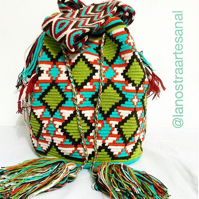 Wayuu Bags Multicolor 💚💚💙💚💙🙌 - Handmade - Original Wayuu @lanostraartesanal