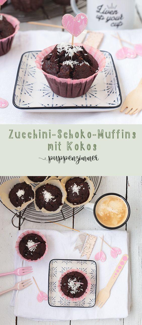 Aus Papas Gemüsekiste: Zucchini-Schoko-Muffins mit Kokos – #aus #Gemüsekiste #…