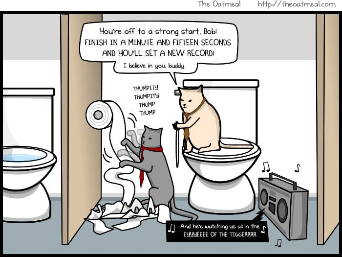 Great example of why that is the wrong way to hang toilet paper!!!!!  (You know who this is for...VERONDA:)