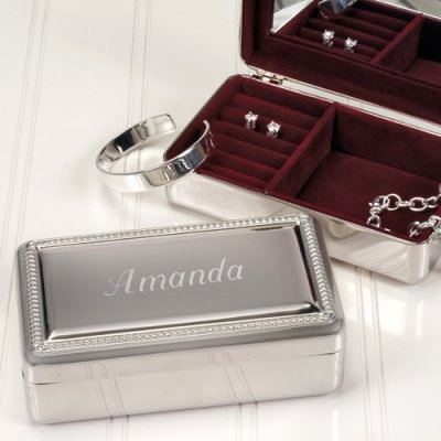 Beautiful Maid of Honor gift - Engraved Jewelry Box