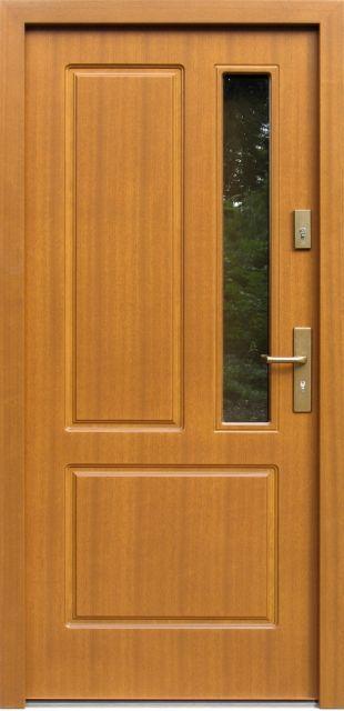 Drewniane wejściowe drzwi zewnętrzne do domu z katalogu modeli klasycznych wzór 591s1