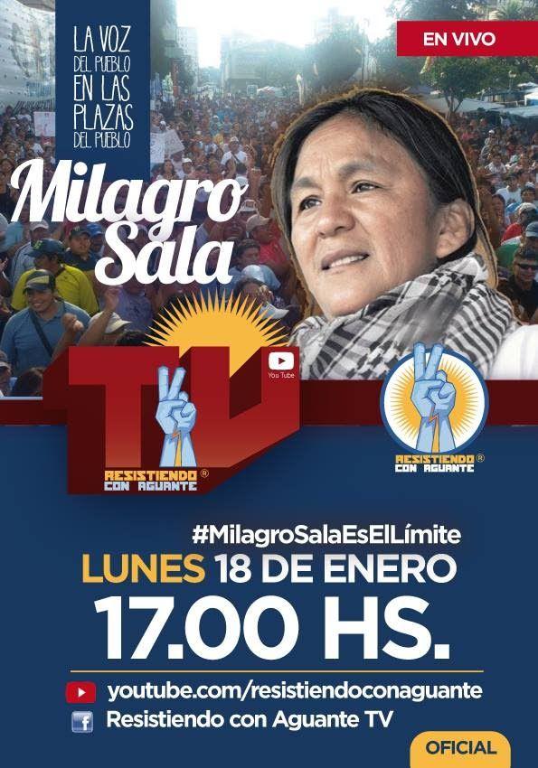 EN VIVO: Milagro Sala es el límite , Las Plazas del Pueblo - Resistiendo...