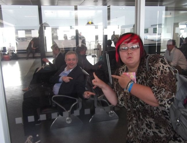 Me and Louis Walsh at Manchester Airport