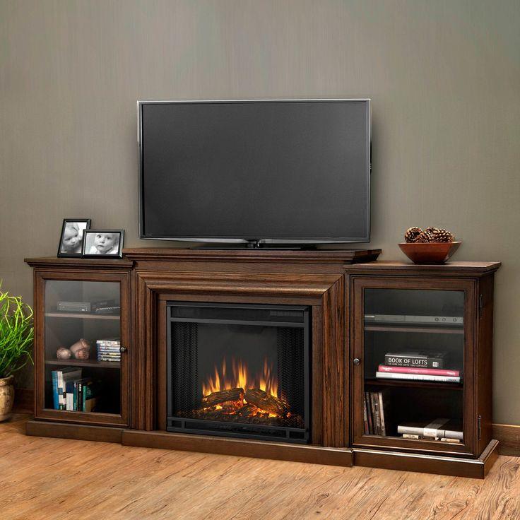 Real Flame - Frederick Electric TV-Media Fireplace-Chestnut Oak, Chestnut Oak