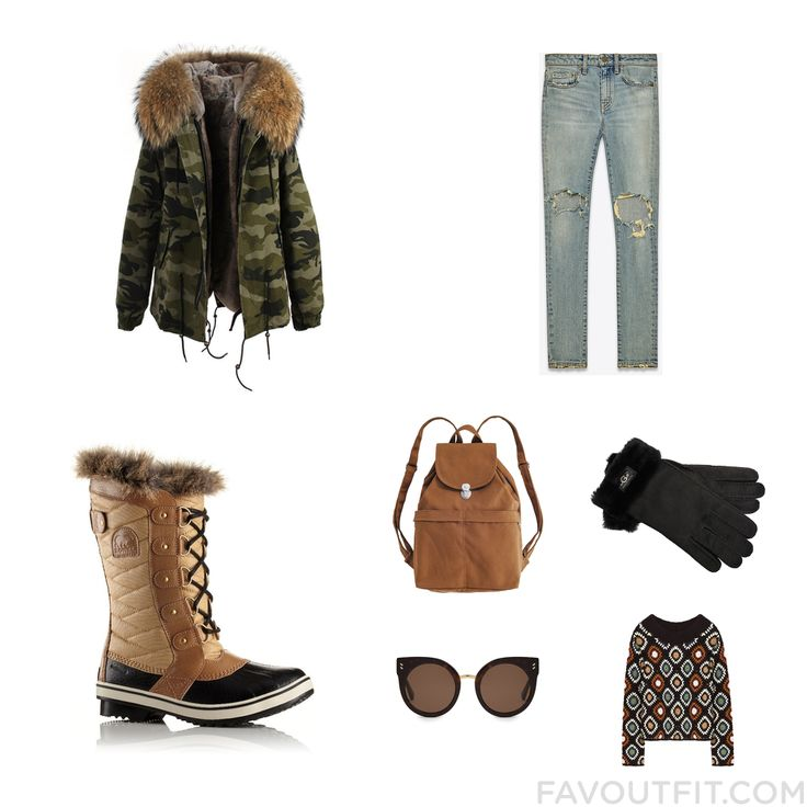 Fashion Mix And Match Including Coat Distressed Skinny Jeans Sorel Boots And Lightweight Laptop Bag From January 2017 #outfit #look
