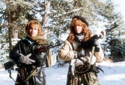 Jennifer Grey & Lea Thompson (Red Dawn - 1984). Sorry Bella, these are better female role models.
