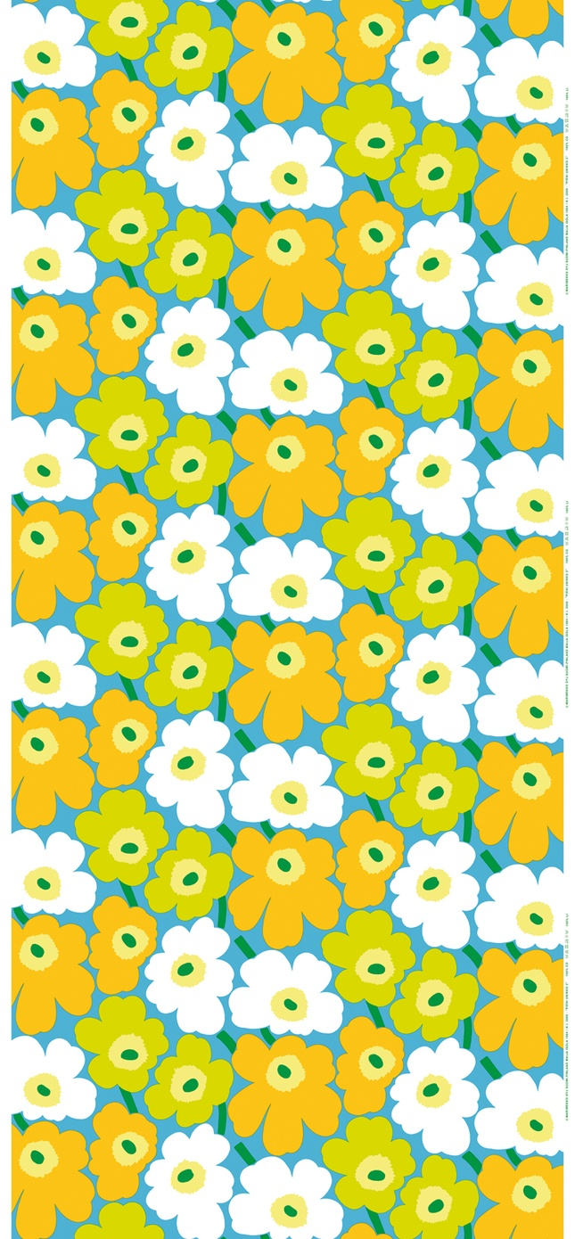 It's hard to improve on a classic - Marimekko Pieni Unikko fabric, by Maija Isola
