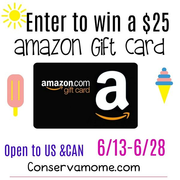 Enter To Win The 25 Amazon Gift Card Giveaway Ends 6 28 Amazon Gift Cards Amazon Gifts Gift Card Giveaway
