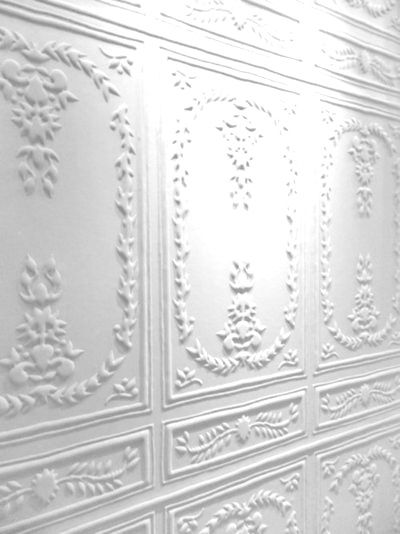 ❖Blanc❖ Ornate white wall panels   Photography by Isabella http://stuckinthemiddleallalone.tumblr.com/