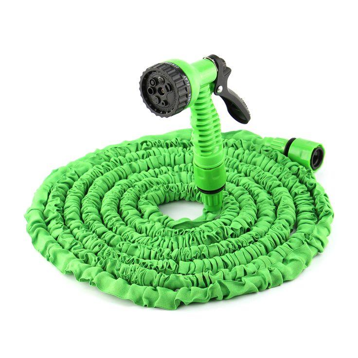 50ft расширения гибкий магия воды шланга с форсунка пистолет садовый шланг выдвижной водопровод + совместная зеленый купить на AliExpress
