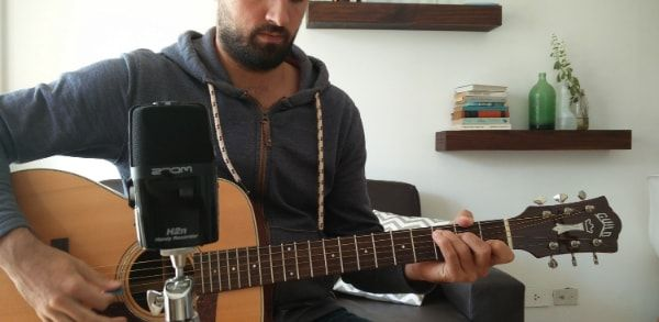 How To Record Vocals And Guitar Using Only The Zoom H2n The Home Recordings Guitar Vocal Records