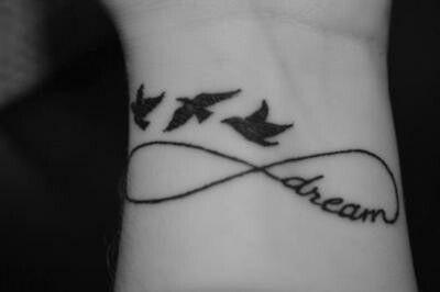 ☆ Wrist tattoo ☆ birds ☆ dream ☆ infinity ☆
