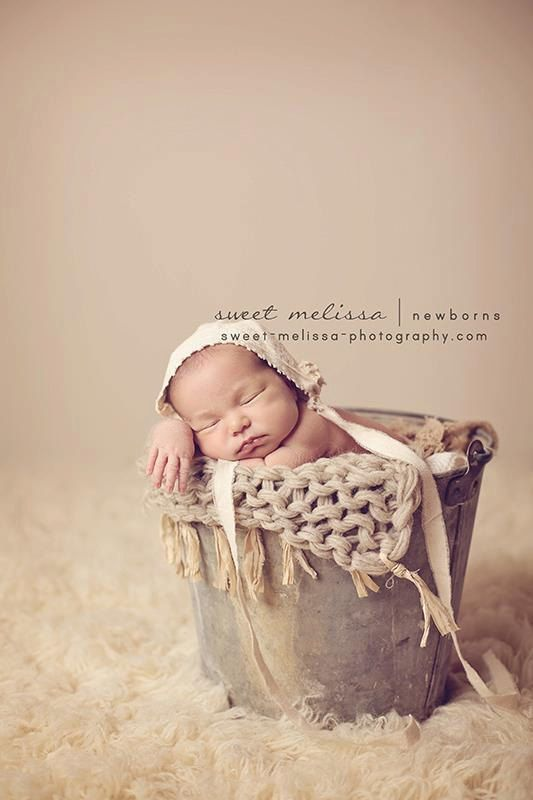 photography prop bonnet newborn vintage neutral colors upcycled prop baby gift. $28.00, via Etsy.