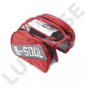"""B-SOUL cykeltaske med aftageligt rum til 5.5"""" smartphones - Rød"""