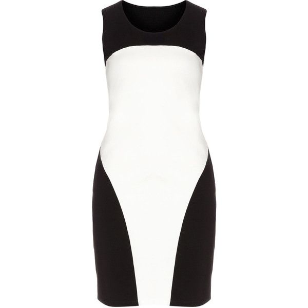 Manon Baptiste Black / White Plus Size Monochrome shift dress ($160) ❤ liked on Polyvore featuring dresses, black, plus size, plus size formal dresses, night out dresses, formal dresses, holiday party dresses and going out dresses