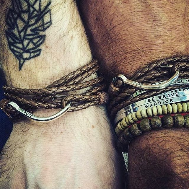 @azzyjayp and @jus_hill wearing matching Winston bracelets. Love this rugged look guys! Get your own at bit.ly/DVShop today.