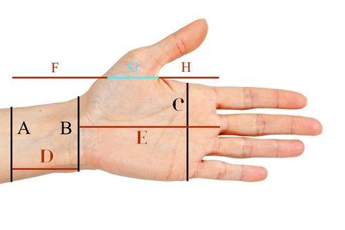 measuring crochet mittens...en ingles...como hacer los guantes sin dedos