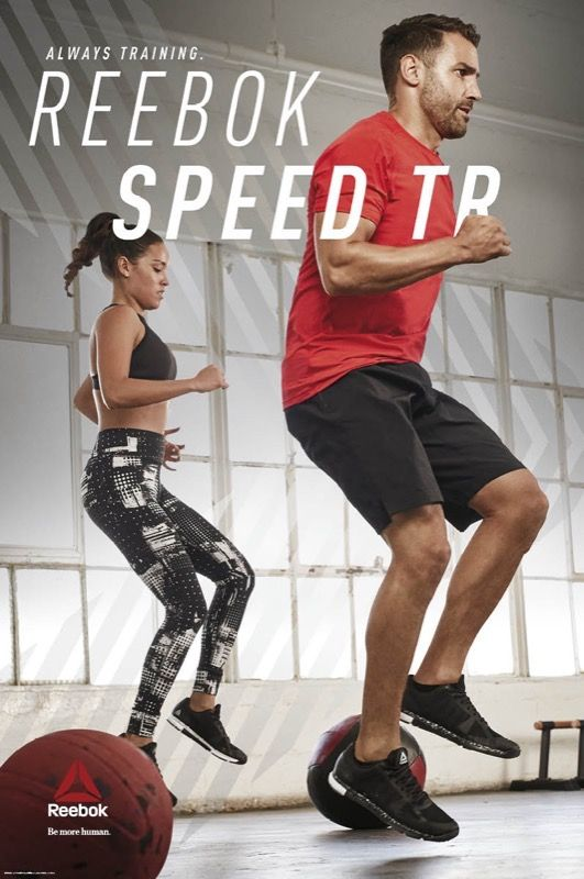 Whether you're sweating it out in a boot camp, HIIT class or personal training session, the new Reebok Speed TR is designed to meet the demands of all types of training. #AlwaysTraining