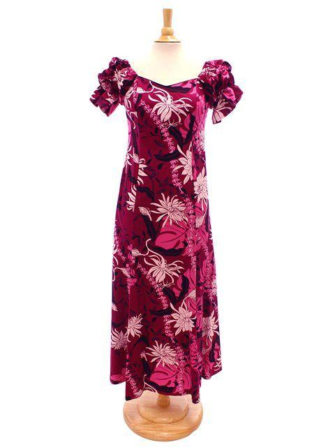 47ad5e5356c4 Makapuu Plum Cotton Hawaiian Long Muumuu Dress | mom of bride ...