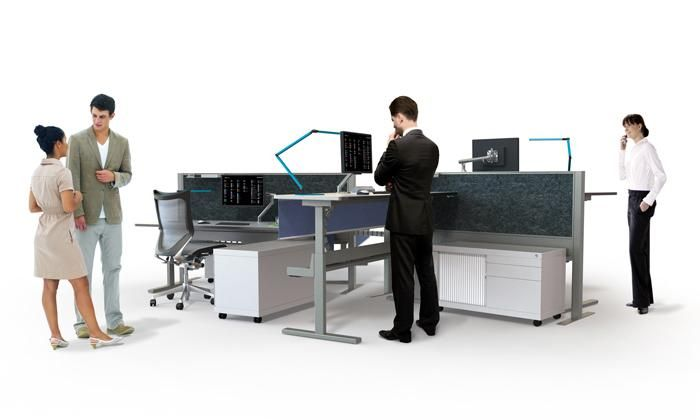 Interchange Sit Stand | UCI Electric height-adjust workstation and desk system. Australian designed and manufactured. GECA Certified. uci.com.au