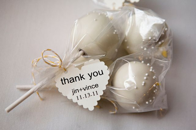 handmade cake pop wedding favors. by contradictionofsorts, via Flickr