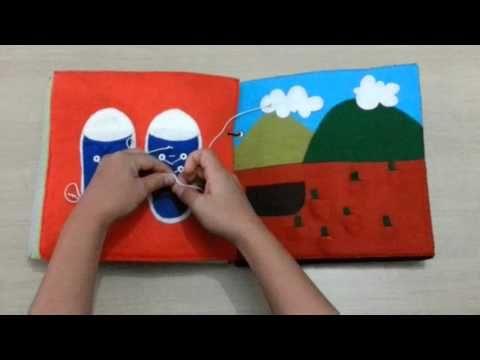 Livro de pano educativo - Quiet Book Execução: Lembrando & Festejando! Contém diversas atividades para desenvolvimento dos bebês e crianças da primeira infân...